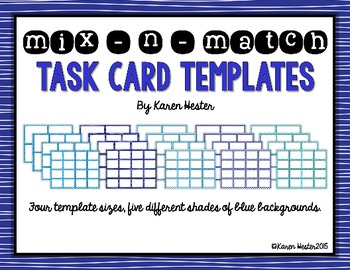 Task Card Templates - The Blues