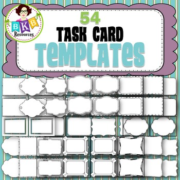 Task Card Templates - Transparent Backgrounds - {Graphics for Commercial Use}