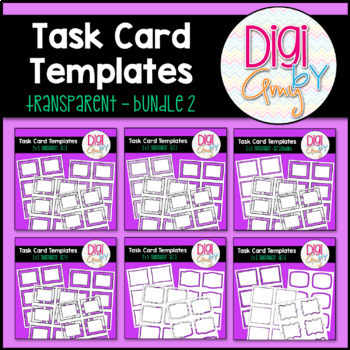 Task Card Templates clipart - Transparent Set 2