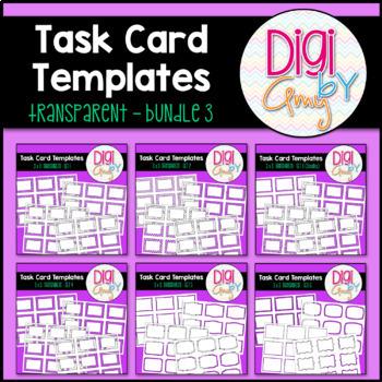 Task Card Clip Art Templates - Transparent Set 3