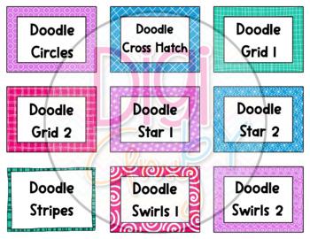 Task Card Templates Clip Art Transparent Set 3