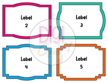 Task Card Clip Art Templates - Transparent Set BUNDLE clipart