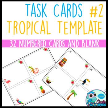 Task Card Templates - Tropical #2 Theme