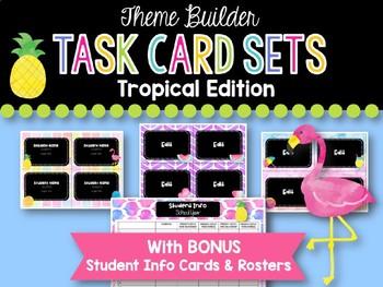 Task Card Templates: Tropical Edition