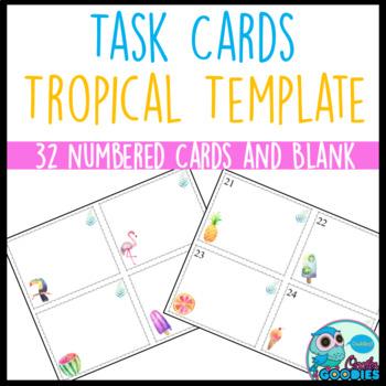 Task Card Templates - Tropical Theme