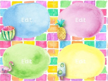 Task Card Templates: Tropical Watercolor Edition