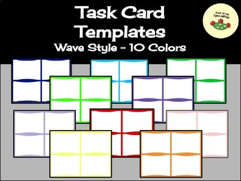 Bargain Task Card Templates- Wave Style
