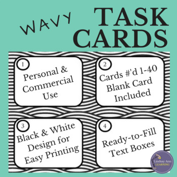 Task Card Template with Wavy Lines
