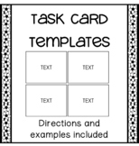 Task Card Templates With Directions and Examples