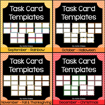Task Card Templates - Year Round Bundle 120 Templates