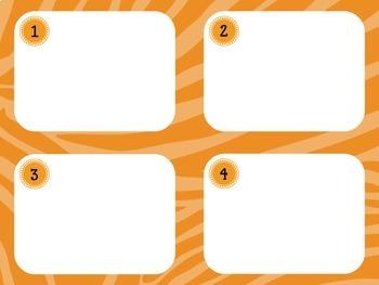Task Card Templates: Zebra