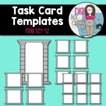 Task Card Templates clipart - MINI SET 42