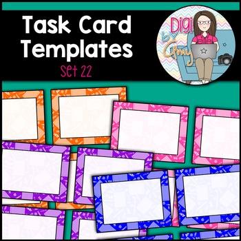 Task Card Templates clipart - SET 22