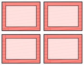 Task Card Templates Clip Art SET 23