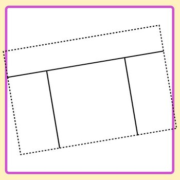 Task Card Templates with Headers 2 - Dashed Outer and Inner Lines Clip Art Set