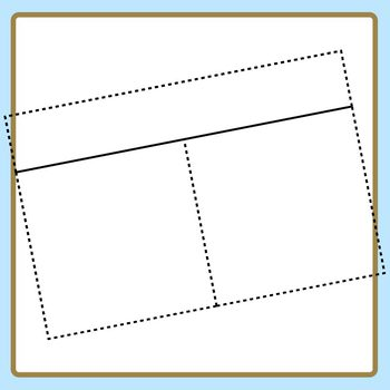 Task Card Templates with Headers with Dashed Outer and Inner Lines Clip Art Set