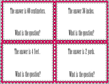Task Card: What is the Question?