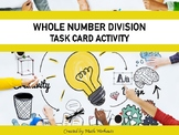 Whole Number Division Task Cards