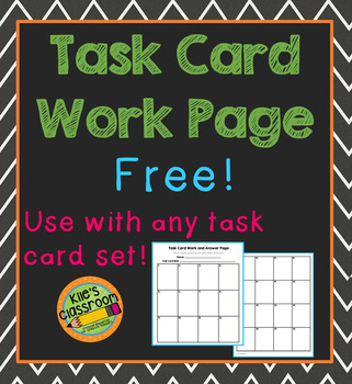 Task Card Work Page