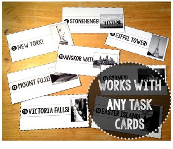 Task Card WORLD TRIP! {works with ANY task cards}