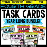 4th Grade Math Test Prep Review: Task Cards Year Long Bundle {All Standards}