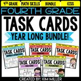 Math Test Prep Task Cards - Math Centers & Review - All Standards Bundle