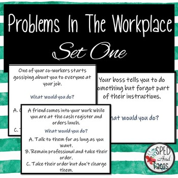 Task Card for Problems in the Workplace