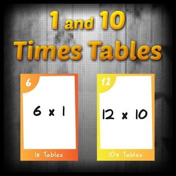 Task Cards - 1 & 10 Times Tables