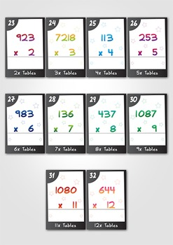 Times Tables Task Card BUNDLE