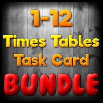 Times Tables Task Card BUNDLE