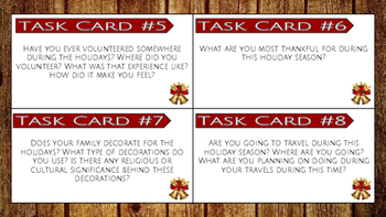 Task Cards: 10 Holiday Writing Prompts