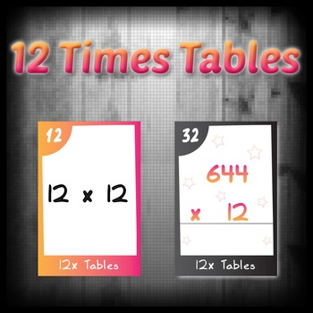 Task Cards - 12 Times Tables (with challenges)