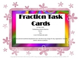 Task Cards 18- Fraction Subtracting Common Denominator with Key