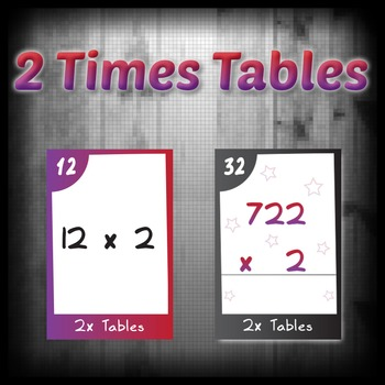 Task Cards - 2 Times Tables (with challenges)