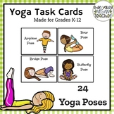 Task Cards - 24 Yoga Poses
