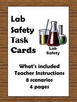 Lab Safety Task Cards
