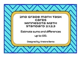 Estimating - Task Cards Math Minnesota Standards 2.1.2.3