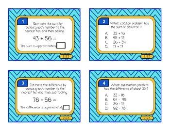 Estimating - Task Cards Math Minnesota Standards 2.1.2.3