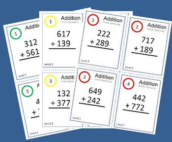 Task Cards/Scoot - 3 digit Addition