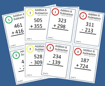 Task Cards/Scoot - 3 digit Addition & Subtraction