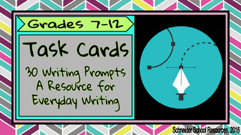 Task Cards: 30 Journal Prompts for Everyday Writing (Volume I)