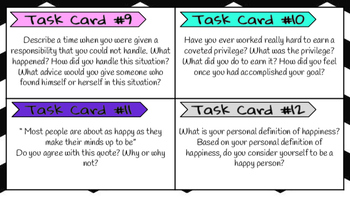 Task Cards: 30 Journal Prompts for Everyday Writing (Volume II)