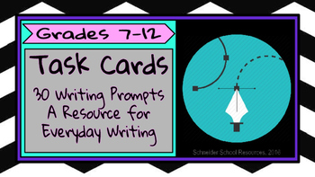 Task Cards: 30 Prompts for Everyday Writing (Volume II)