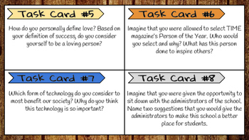 Task Cards: 30 Prompts for Everyday Writing (Volume III)