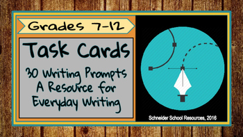 Task Cards: 30 Journal Prompts for Everyday Writing (Volume III)