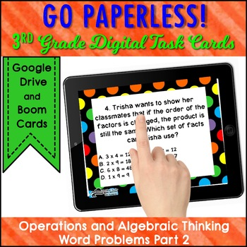 WORD PROBLEM Task Cards 3rd Grade Operations and Algebraic Thinking PART 2