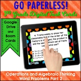 WORD PROBLEM Task Cards 3rd Grade OA Boom Cards and Google