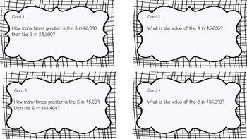 Task Cards 4.NBT.A.1 Place Value