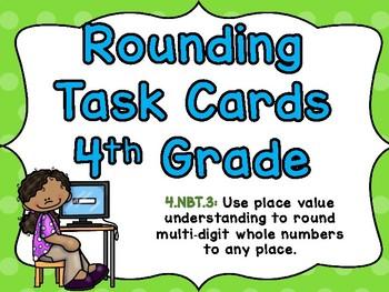 Task Cards 4.NBT.3 Rounding