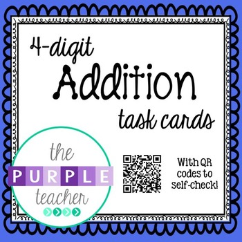 4-digit Addition with QR Code